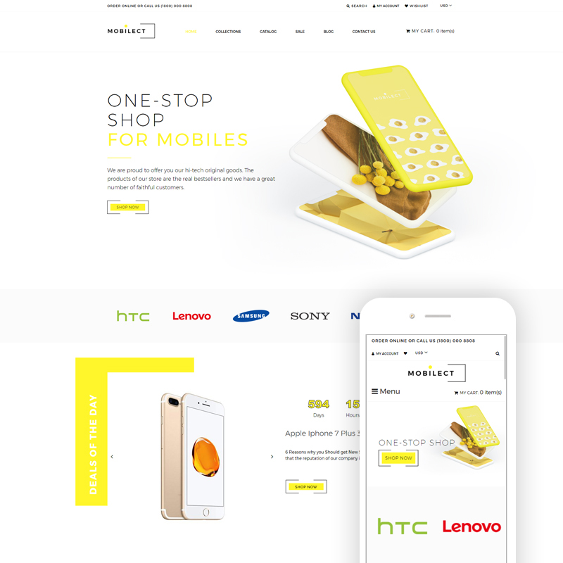Mobilect - Mobile Store Multipage Clean Shopify Theme