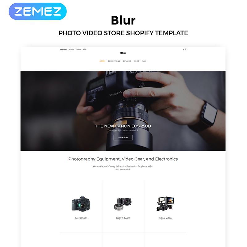 Blur - Electronics Store Multipage Clean Shopify Theme