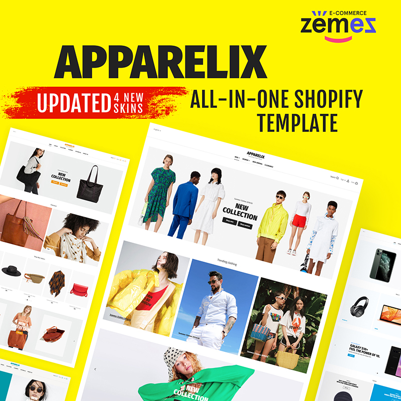 Clean Multipurpose Shopify Theme for Apparel Brand - Apparelix