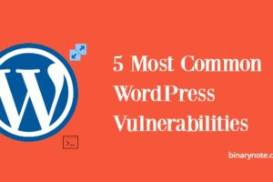 Most Common WordPress Vulnerabilities