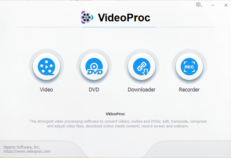 VideoProc-Main interface